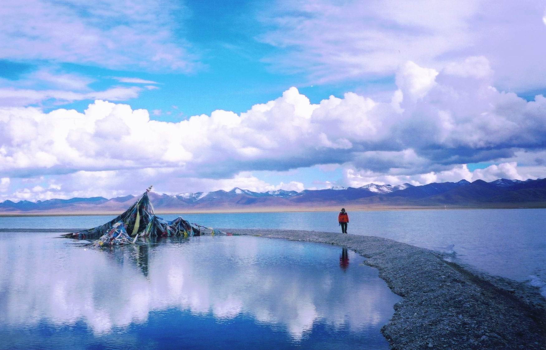Lhasa With Namsto Lake And EBC